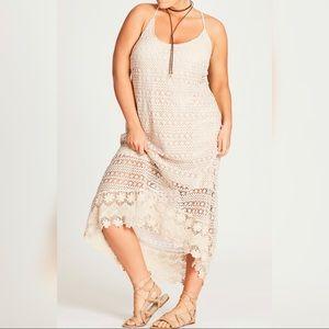 City Chic Crochet Cool Dress
